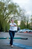 MOSKAU, RUSSLAND - 13. MAI 2017: Russischer Athlet Elena Alekseeva t Stockfoto