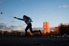 MOSKAU, RUSSLAND - 13. MAI 2017: Russischer Athlet Yulia Shafenkova Lizenzfreies Stockfoto