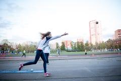 MOSKAU, RUSSLAND - 13. MAI 2017: Russischer Athlet Yulia Shafenkova Stockfotos