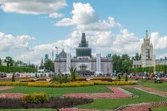 MOSKAU, RUSSLAND - 27. Mai 2017: Tulpen auf VDNKh Stockfotos