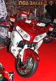 MOSKAU, RUSSLAND - MARCH-02-2013: 10. Internationales Motorrad ex Lizenzfreies Stockbild