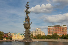 Moskau, Russland, Monument zum großen russischen Zar Peter 1 Lizenzfreie Stockfotografie