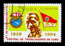 MOSKAU, RUSSLAND - 25. NOVEMBER 2017: Ein Stempel gedruckt in Kuba-Show Lizenzfreie Stockfotos