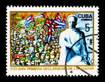 MOSKAU, RUSSLAND - 25. NOVEMBER 2017: Ein Stempel gedruckt in Kuba-Show Lizenzfreie Stockfotografie