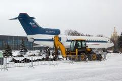MOSKAU, RUSSLAND - 15. November 2016: Fläche YAK-42 Lizenzfreies Stockbild