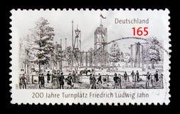 MOSKAU, RUSSLAND - 21. OKTOBER 2017: Ein Stempel gedruckt auf Deutsch FED Lizenzfreie Stockbilder