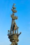 MOSKAU, Russland - 20. Oktober: Monument zu Peter der Große in Mosc Lizenzfreies Stockbild
