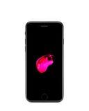 MOSKAU, RUSSLAND - 18. OKTOBER 2016: Neues schwarzes iPhone 7 ist ein intelligentes Stockfotografie