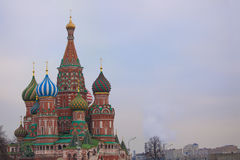 Moskau, Russland, rotes Quadrat, Ansicht der Kathedrale St-Basilikums Lizenzfreies Stockfoto
