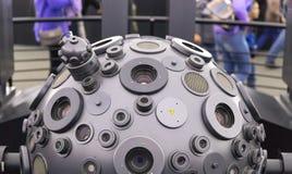 MOSKAU, RUSSLAND - 28. SEPTEMBER: Der optomechanische Cosmorama-Projektor des Planetariums in Moskau Die Planetariumsgeschenke lizenzfreie stockbilder