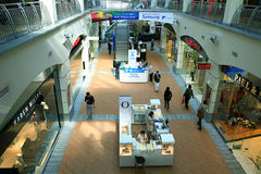 Moskau, RUSSLAND - 11. September: Einkaufszentrensupermarkt am 11. September 2015 Stockfoto
