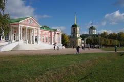 MOSKAU, RUSSLAND - 28. September 2014: Kuskovo-Zustand der Sheremetev-Familie Stockbilder