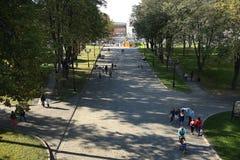 Moskau, RUSSLAND - 18. September: Leute auf der Straße am 18. September 2014 Stockbilder
