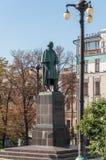 Moskau, Russland - 21. September 2015 Monument zum Verfasser Gogol auf Nikitsky-Boulevard Stockbilder