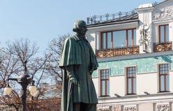 Moskau, Russland - 21. September 2015 Monument zum Verfasser Gogol auf Nikitsky-Boulevard Lizenzfreies Stockfoto