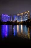 Moskau, Russland - 10. September 2016: Nachtansicht belichteter Ausflug Stockbild