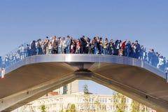 MOSKAU, RUSSLAND 24. SEPTEMBER 2017: Zaryadye-Park in Moskau, neu Lizenzfreies Stockfoto