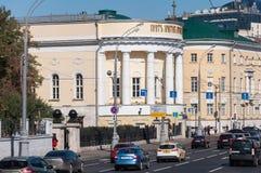 MOSKAU, RUSSLAND - 21 09 2015 Tempel-St.-Märtyrer Tatjana an Moskau-staatlicher Universität auf Moss Street, 19. Jahrhundert Lizenzfreie Stockfotografie