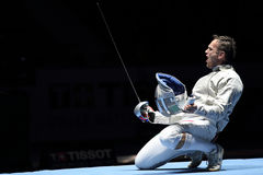 Moskau-Säbel-Welt, die Turnier einzäunt lizenzfreies stockfoto