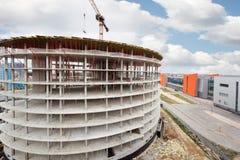 Geschäftszentrum im Bau in Sheremetyevo Stockbild