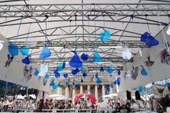 Moskau-Sommer Staufestival dekorationen Lizenzfreie Stockfotografie