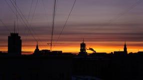 Moskau-Sonnenaufgang Lizenzfreies Stockfoto