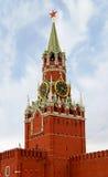 Moskau, Spasskaya Kontrollturm Lizenzfreies Stockbild