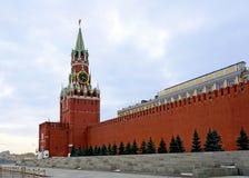 Moskau, Spasskaya Kontrollturm Lizenzfreie Stockfotos