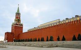 Moskau, Spasskaya Kontrollturm und rotes Quadrat Stockfotos