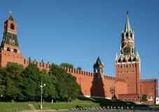 Moskau, Spassky Kontrollturm Stockfotografie