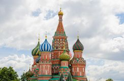 Moskau, St. Basil Cathedral, Russland Stockfoto