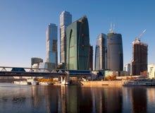 Moskau-StadtGeschäftszentrum. Stockfoto