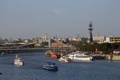Moskau-Stadtpanorama Augenansicht des Vogels Lizenzfreie Stockfotos