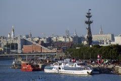 Moskau-Stadtpanorama Augenansicht des Vogels Stockfotos