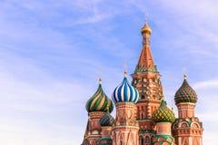 moskau StBasil-Kathedrale Stockfoto