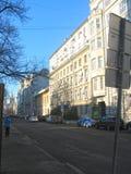 Moskau-Straße Winter lizenzfreie stockfotografie