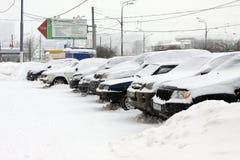 Moskau unter Schnee Lizenzfreie Stockfotos