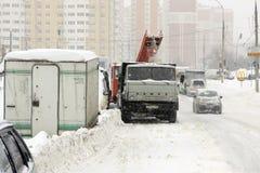 Moskau unter Schnee Stockfotografie