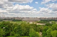 MOSKAU, VOROBYOVY BLUTIG Lizenzfreies Stockbild