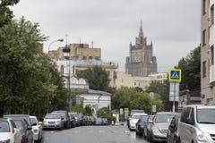 Moskau-Weg Stockbild