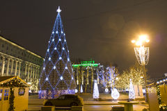 Moskau, Weihnachtsbaum Stockfoto