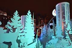 Moskau-Weihnachtsdekoration, Russland Lizenzfreies Stockfoto