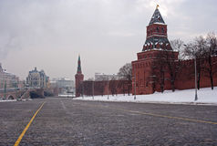 Moskau-Winter der Kreml Stockbilder