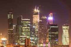 Moskau-Wolkenkratzer, Stadtbild Lizenzfreies Stockfoto