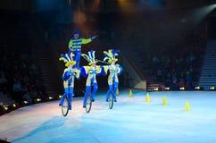 Moskau-Zirkus auf Eis auf Ausflug Lizenzfreie Stockbilder