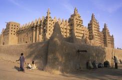 Moskee 2 van Djenné Stock Afbeeldingen