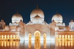 Moskee in Abu Dhabi royalty-vrije stock afbeeldingen