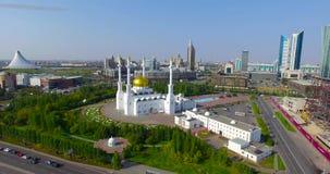 Moskee in Astana-stad stock videobeelden