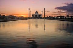 Moskee bij Hatyai-Stad Stock Afbeelding