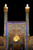 Moskee bij nacht Isphahan Iran royalty-vrije stock foto's